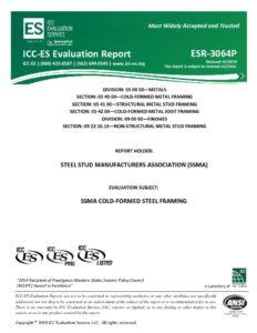 thumbnail of ICC ESR-3064P – SSMA – 2019