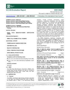 thumbnail of ICC ESR-3064P – SSMA – 2020