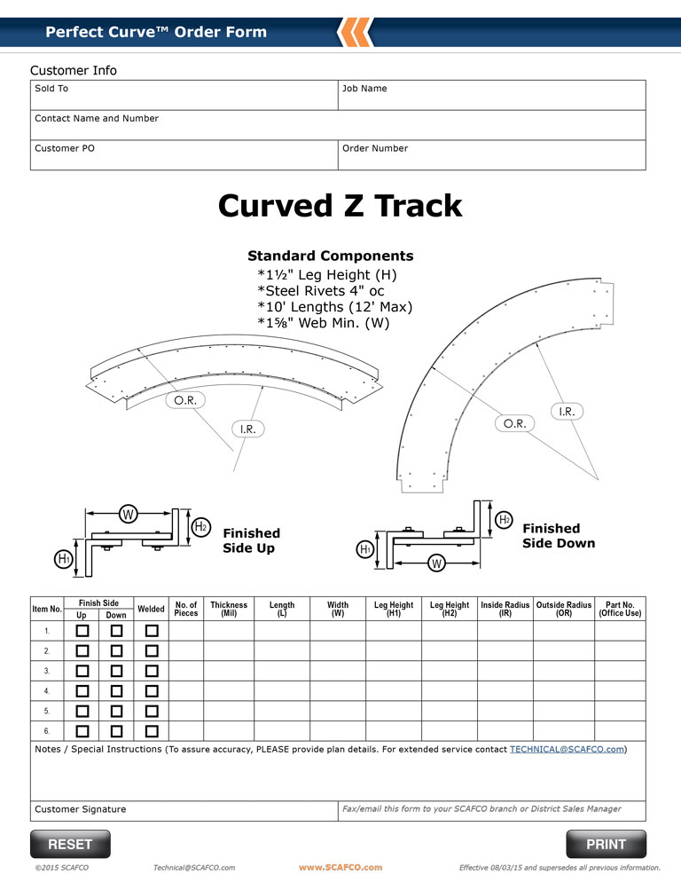 Perfect Curve Curved Z Track